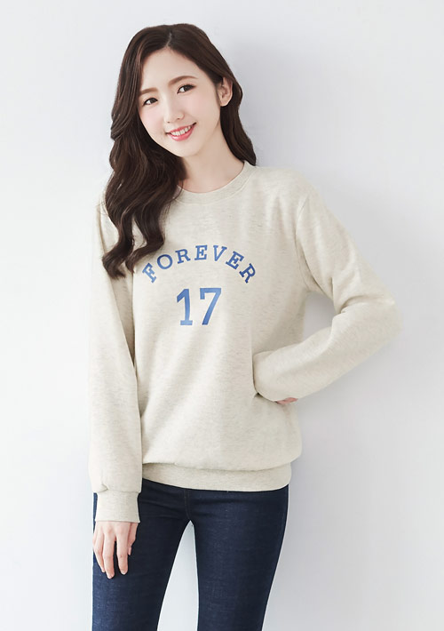 Forever17印花刷毛T恤