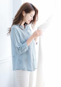 刺繡七分袖襯衫