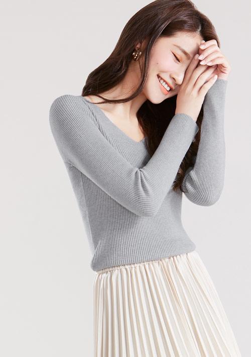 V領針織衫
