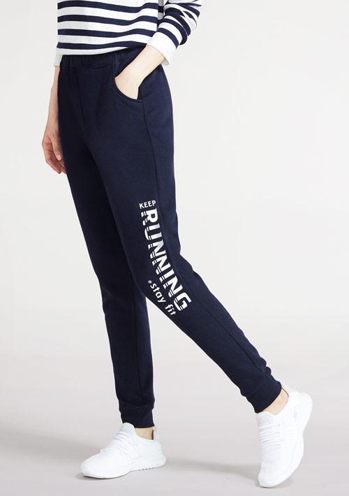 跑步運動刷毛束口褲