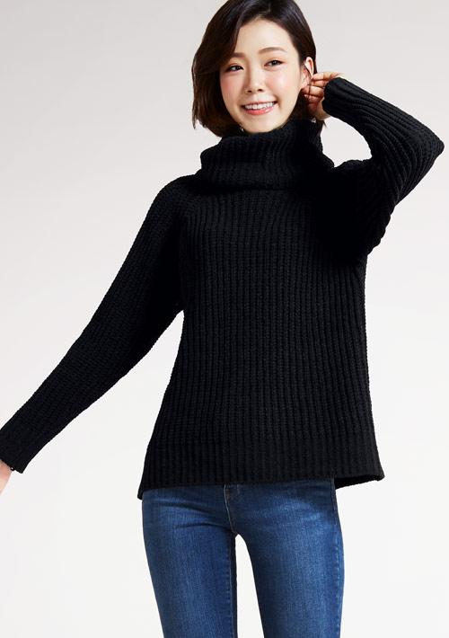 翻領針織毛衣