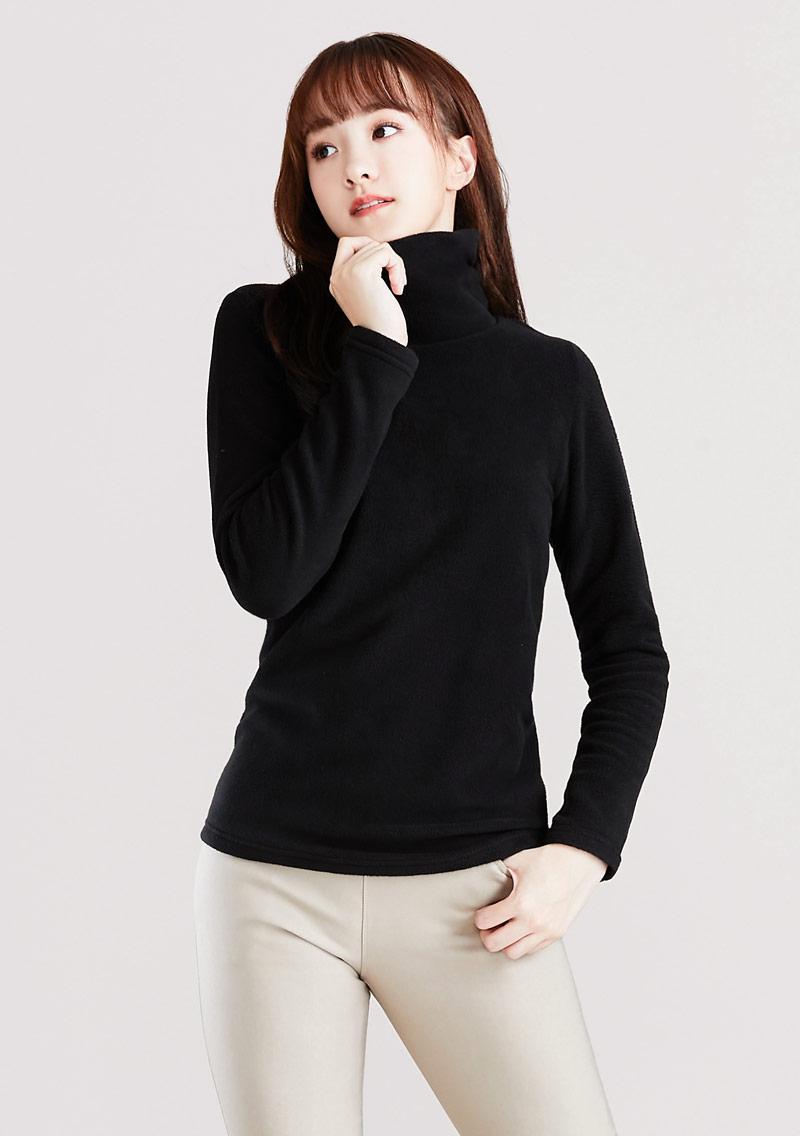 Fleece輕量保暖高領上衣