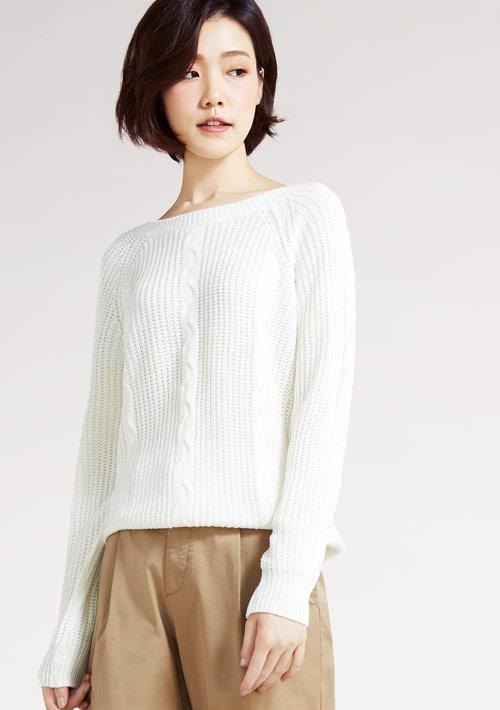 圓領針織毛衣