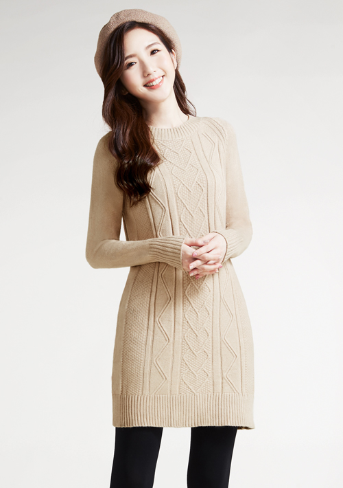 長版針織毛衣