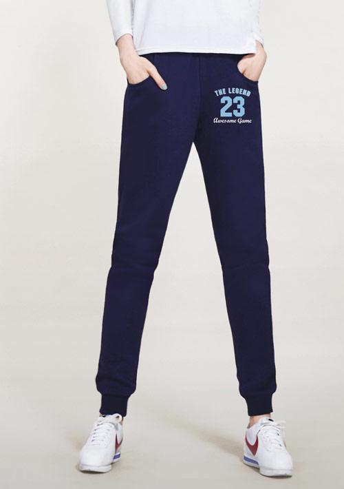 23號傳奇運動員刷毛束口褲