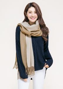雙色羊絨圍巾