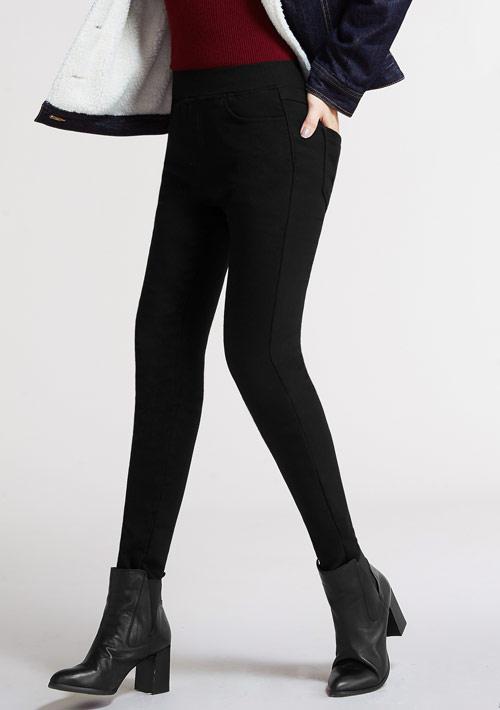 保暖加絨顯瘦窄管褲