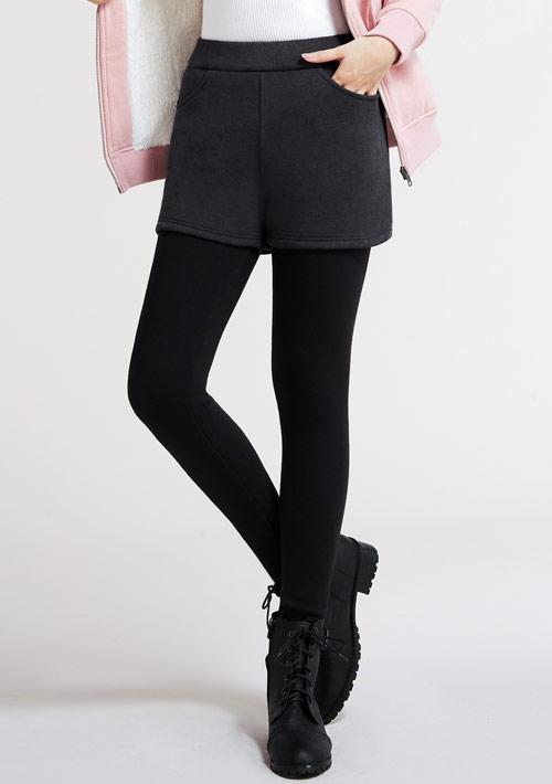 假兩件短褲保暖褲