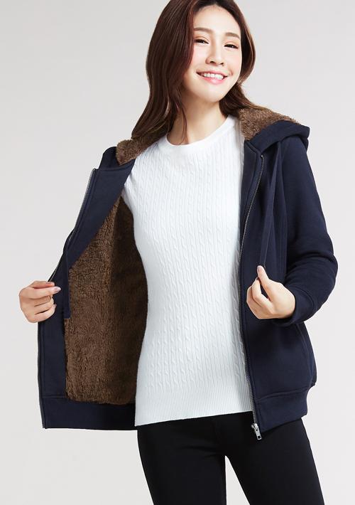 暖感羊羔毛刷毛外套