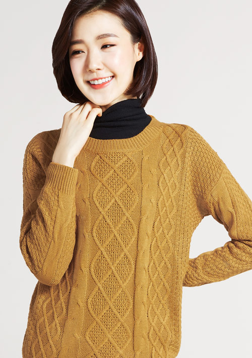麻花針織毛衣
