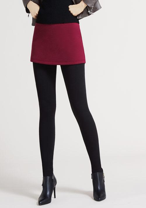 假兩件短裙保暖褲
