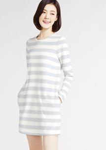 Fleece條紋洋裝