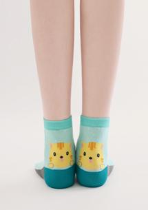 創意後腳跟動物造型中筒襪