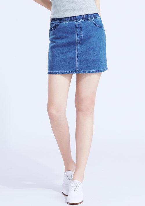 特級彈性牛仔褲裙