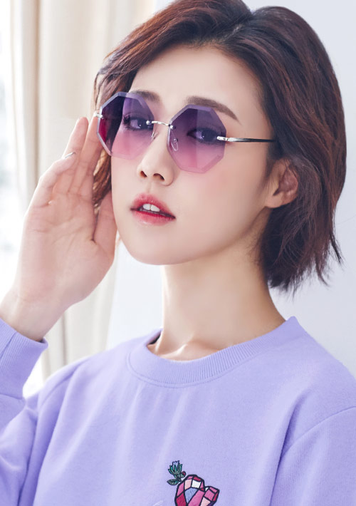 多邊形無框太陽眼鏡