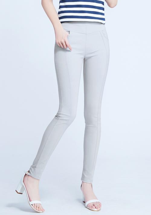 特級彈性3D顯瘦涼感窄管褲