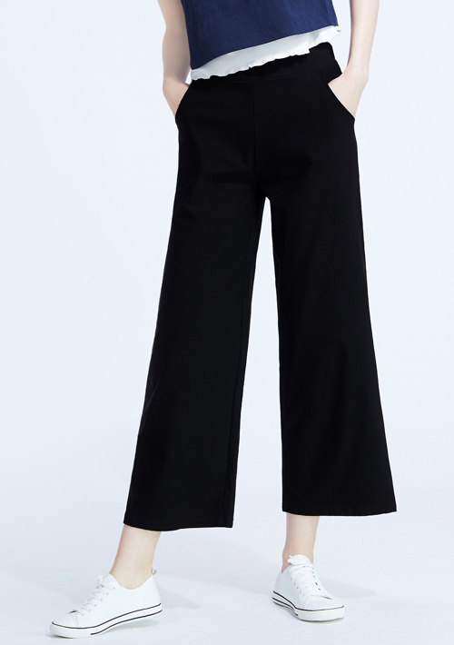 特級彈性涼感八分寬褲