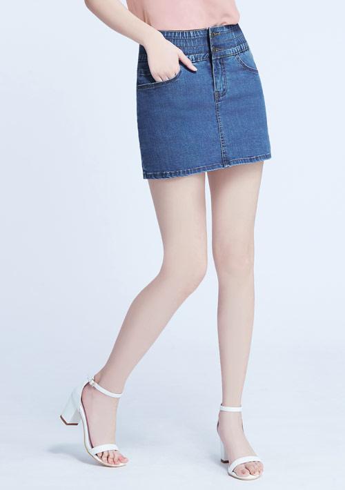 【限三天$320】收腹牛仔褲裙