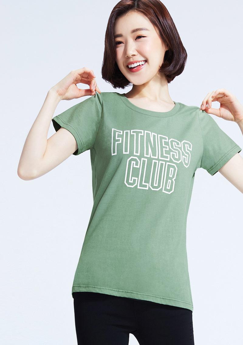 運動口號文字純棉印花T恤