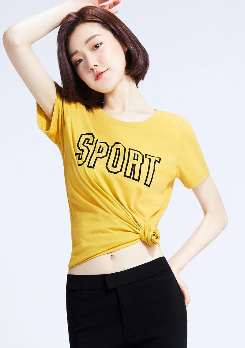 【限三天$145】運動口號文字純棉印花T恤