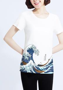神奈川大浪純棉印花T恤