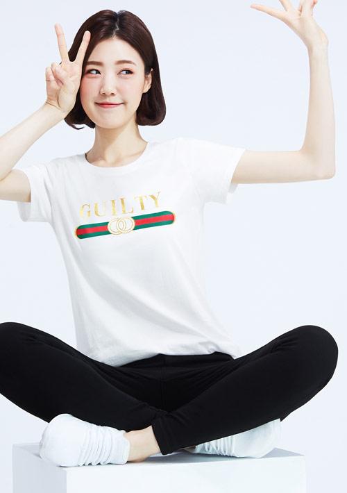 【限48HR$145】時尚經典條紋純棉印花圓領T恤