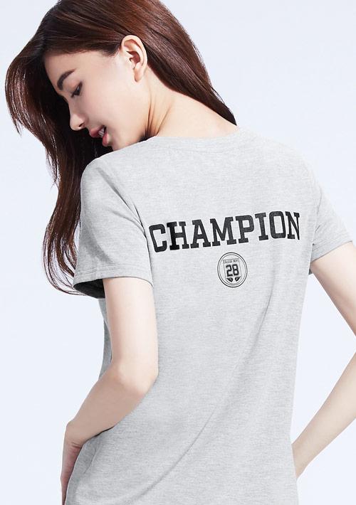 特級四面彈背面徽章圓領T恤