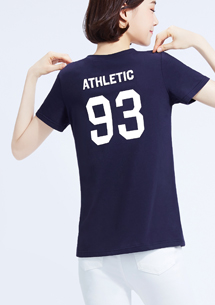 【週末限定$99】93號運動員純棉背面印花T恤