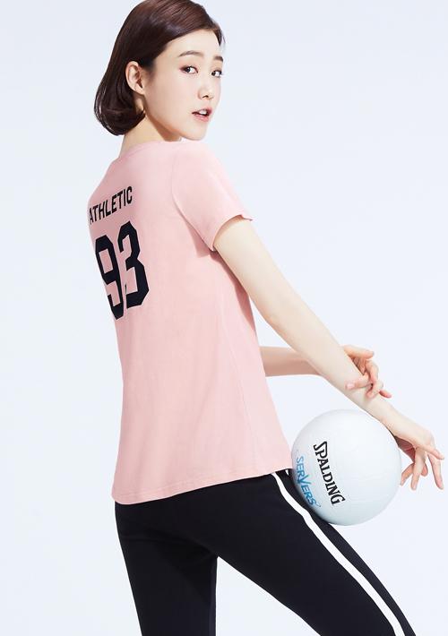 93號運動員純棉背面印花T恤