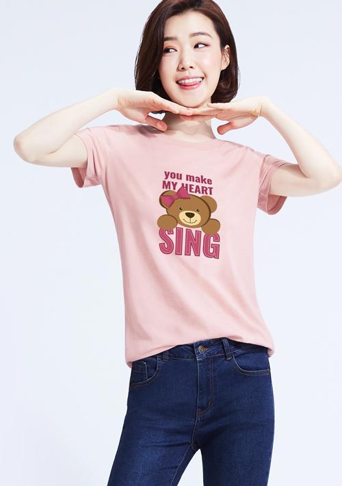【限48HR$145】可愛泰迪熊純棉印花T恤