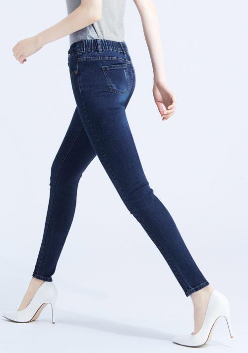 特級彈性刷色牛仔褲
