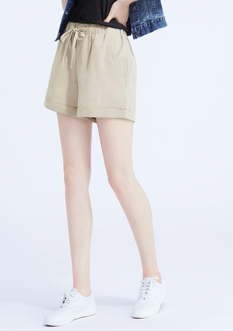 輕便反折短褲
