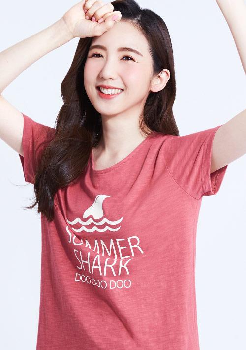 鯊魚嘟嘟嘟竹節棉寬版T恤