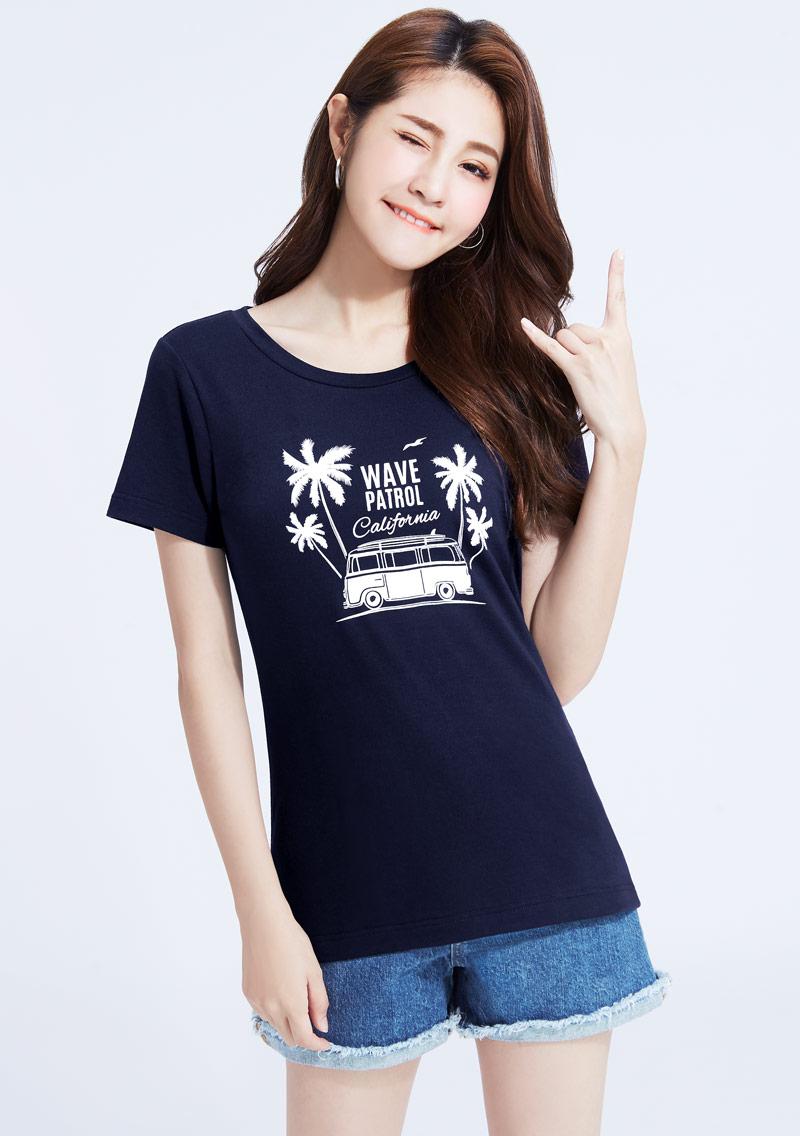 特級四面彈性衝浪探險印花T恤