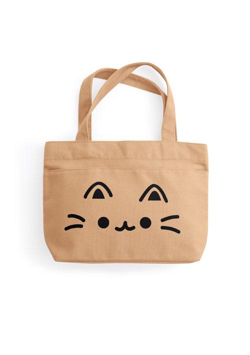 Q萌貓咪帆布手提包