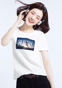 運動生活純棉印花T恤