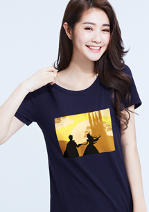童話故事純棉圓領T恤