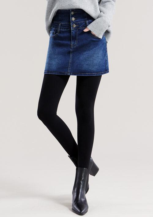 特級彈性收腹牛仔褲裙