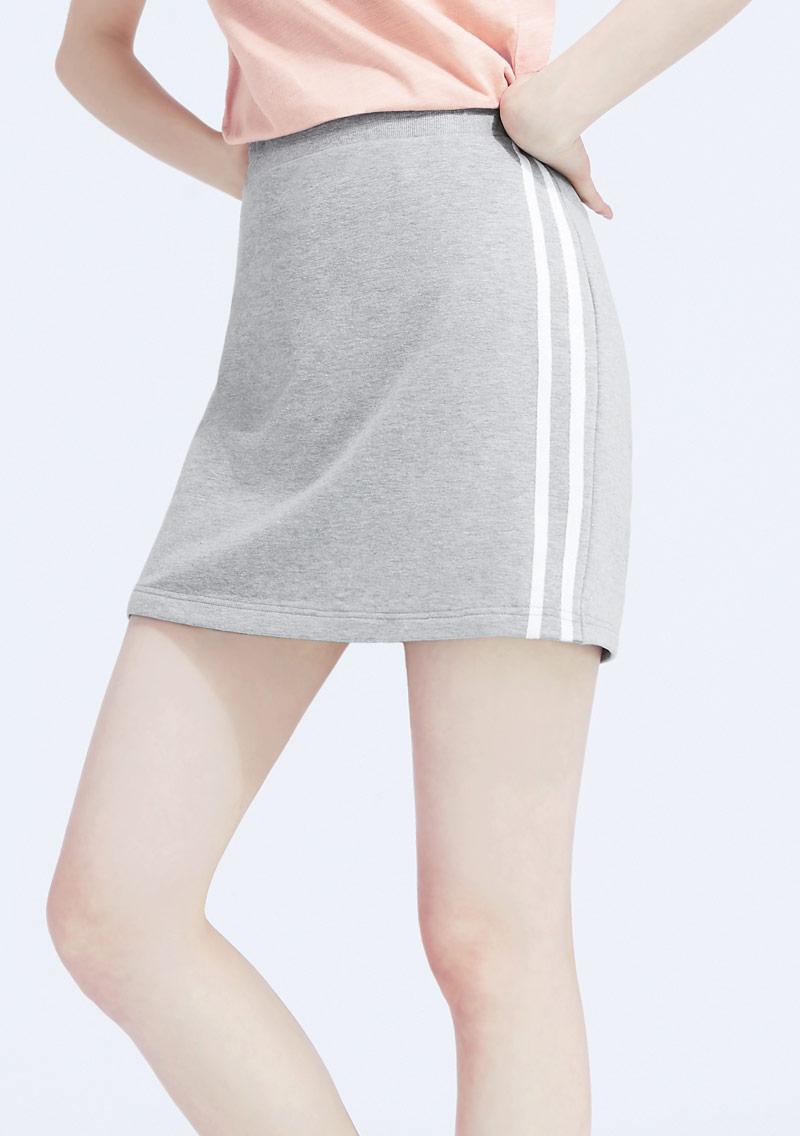 邊條毛圈褲裙
