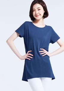 竹節棉寬版T恤