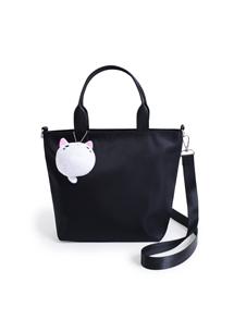 防潑水貓咪斜揹手提包