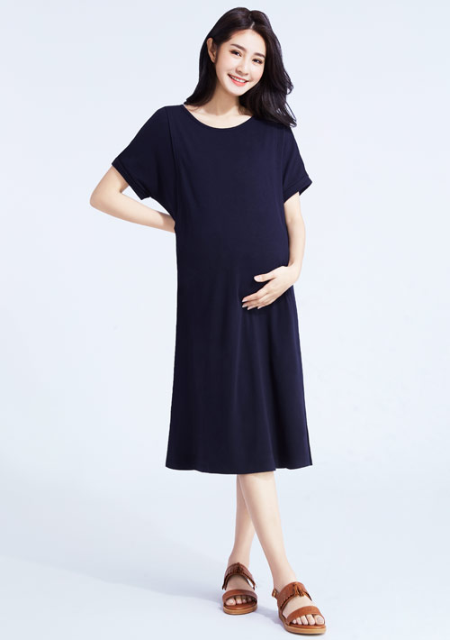 特級四面彈性孕婦哺乳洋裝