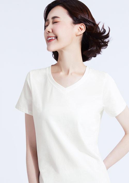 頂級冰絲棉V領涼感衣