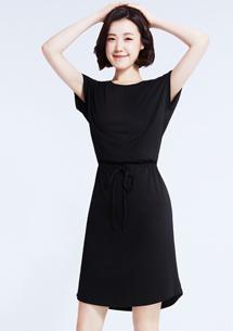 純棉綁帶洋裝