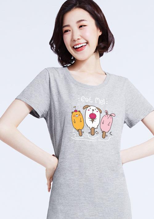 寵物冰棒竹節棉印花長版衫