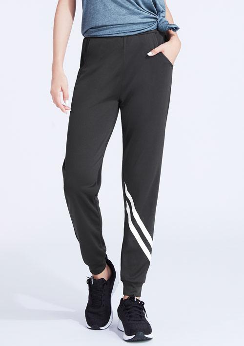 斜紋印花抗UV吸排束口長褲