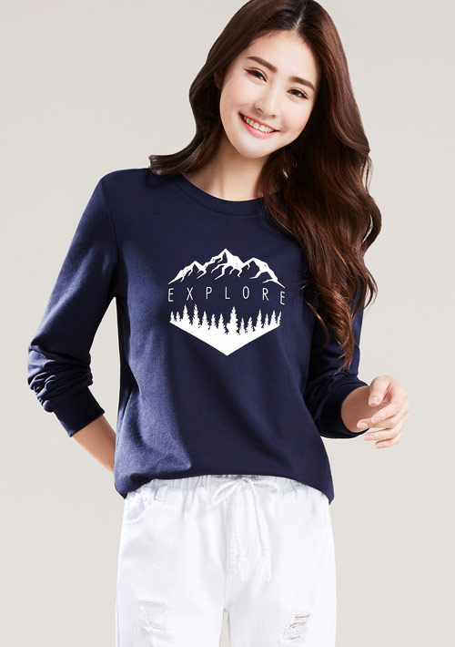 登山探索毛圈圓領衫