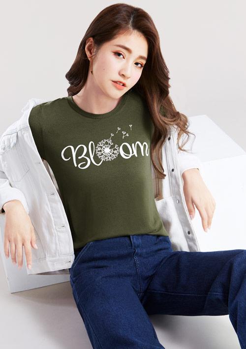 許願蒲公英特級四面彈性T恤