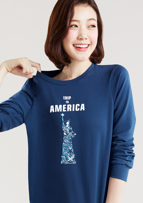 我愛旅行毛圈圓領衫