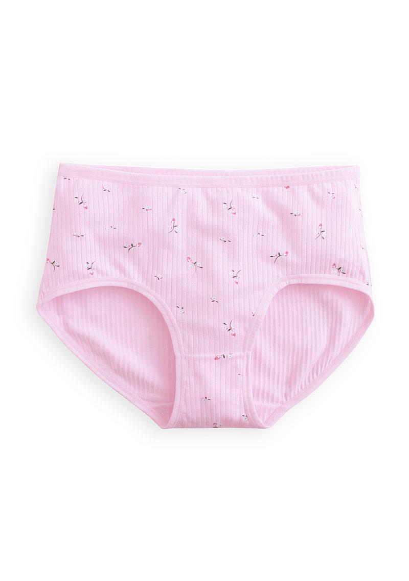特柔棉花卉中腰內褲